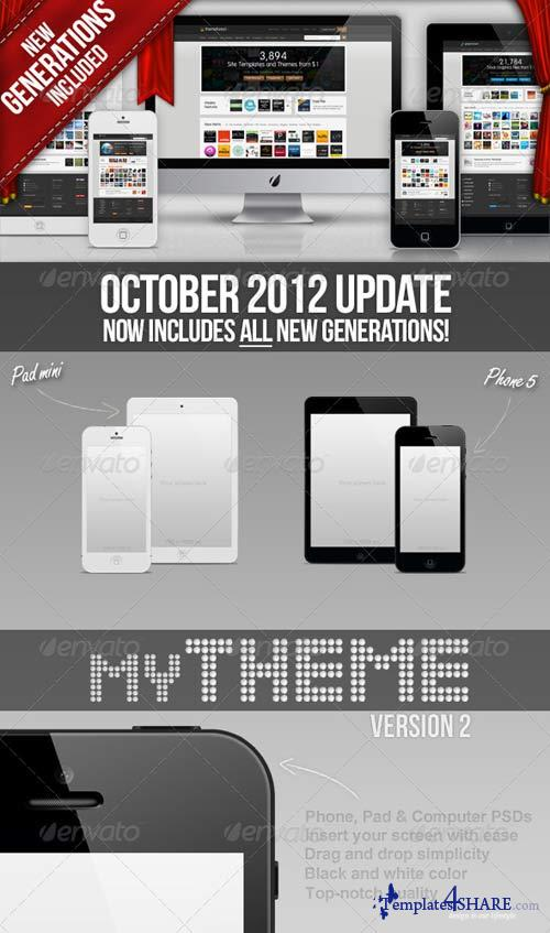 GraphicRiver myTheme - Phone, Pad & Computer template