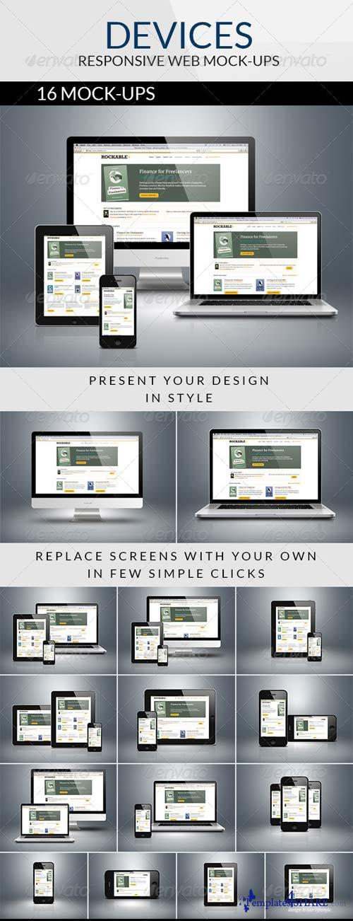GraphicRiver Devices - Responsive Web Mock-ups