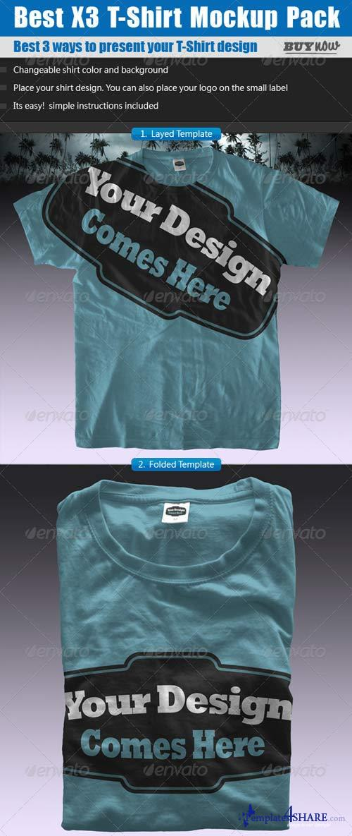 GraphicRiver T-Shirt Mock ups Pack - Shirt Template