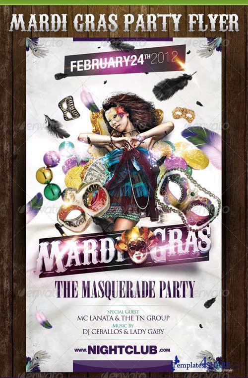 GraphicRiver White Mardi Gras Party Template