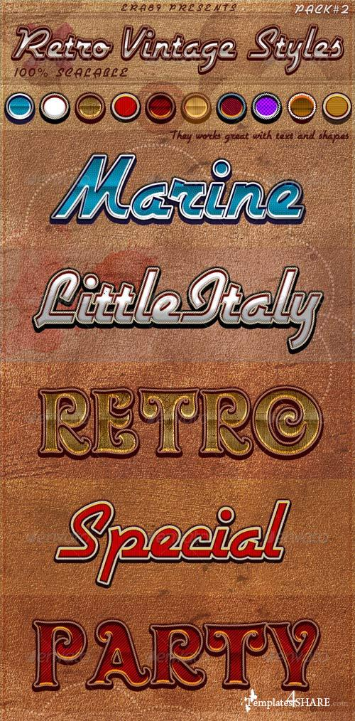 GraphicRiver Retro Vintage Styles pack 2