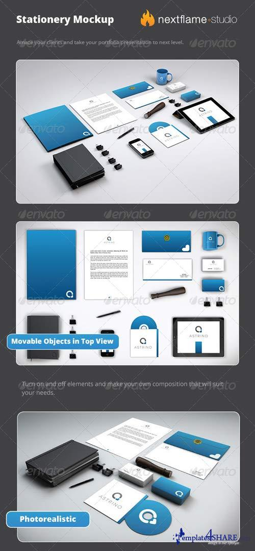 GraphicRiver Stationery Mockup Pack - Smart Obejcts