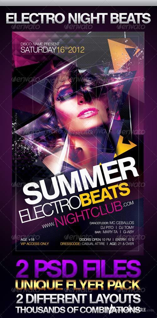 GraphicRiver Electro Night Beats