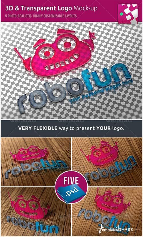 GraphicRiver 3D & Transparent Logo Mockups
