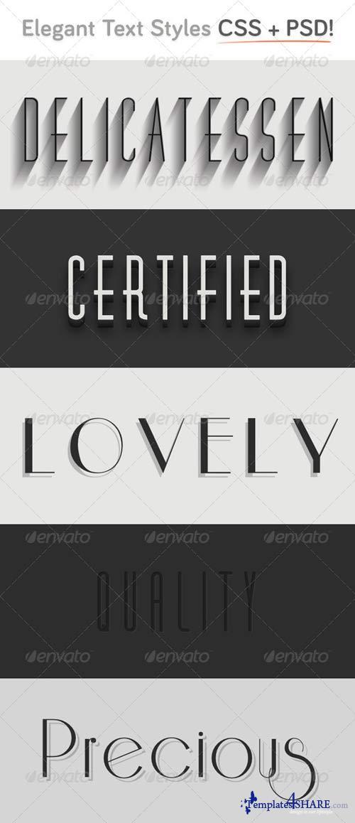 GraphicRiver Elegant CSS Type Styles (+PSD)