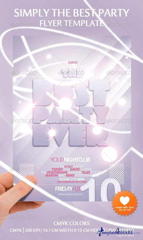 GraphicRiver Simply The Best Party Ever Flyer