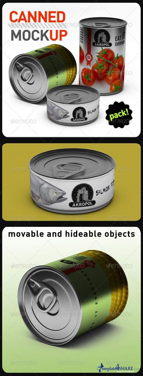 GraphicRiver Canned Mock Up