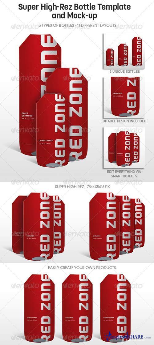 GraphicRiver Multi-Purpose Highrez Bottle Mockup & Template