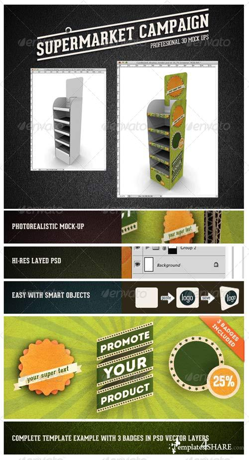 GraphicRiver Card Board Display Mock-up