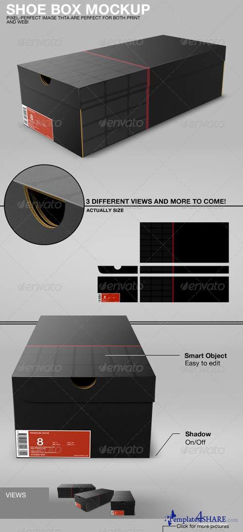 GraphicRiver Shoe Box Mockup