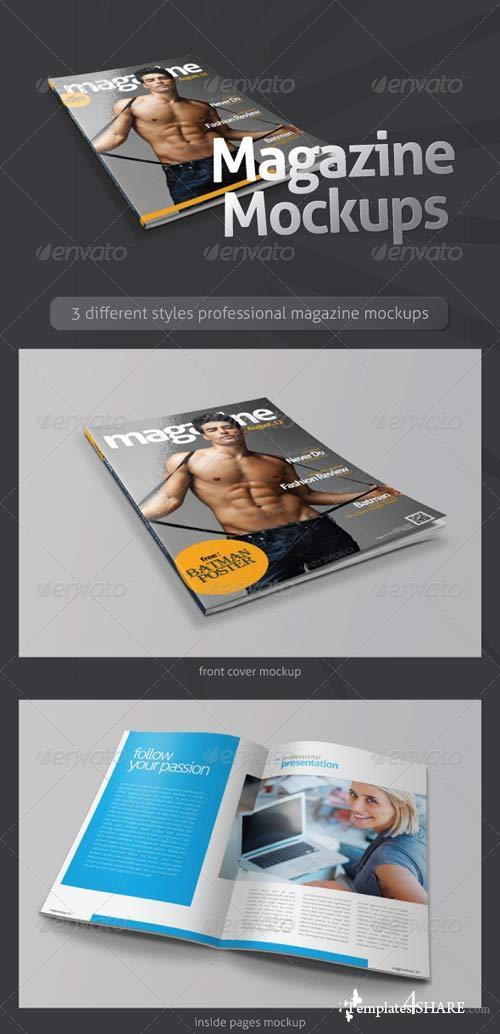 GraphicRiver Magazine Mockups