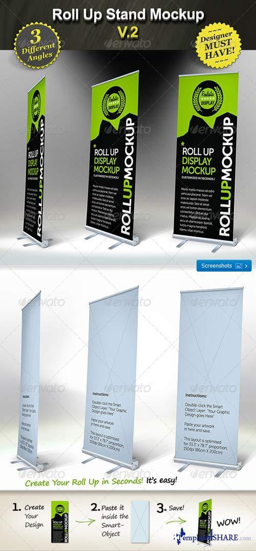 Graphicriver Exhibition Stand Design Mockup : Graphicriver roll up stand mockup smart template display
