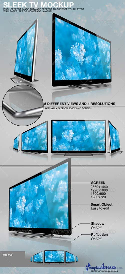 GraphicRiver Sleek TV Mockup