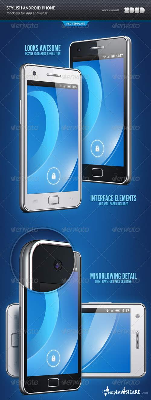 GraphicRiver Stylish Android Phone App Showcase Mockup