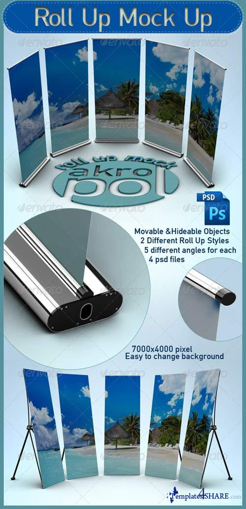 GraphicRiver Roll Up Mock Up