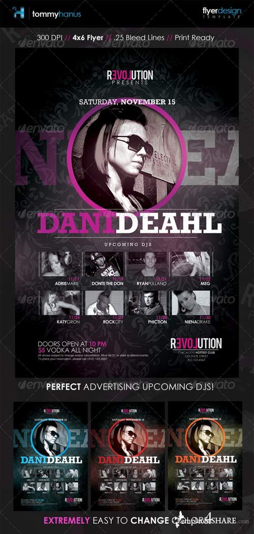 GraphicRiver Nightclub DJ Event Flyer