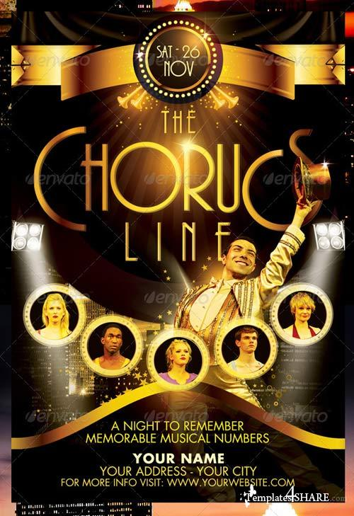 GraphicRiver The Chorus Line Flyer Template