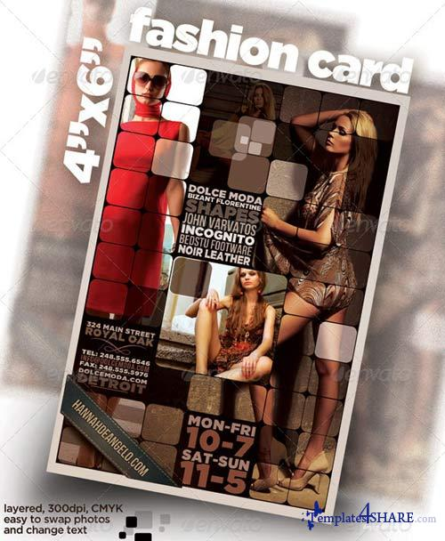 "GraphicRiver 4""x6"" card / flyer with Fashion Theme"