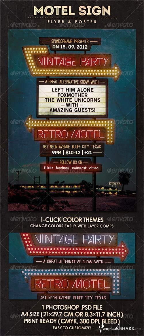 GraphicRiver Motel Sign - Flyer & Poster