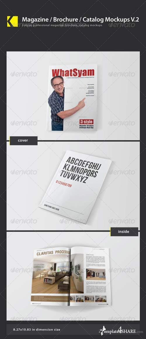 GraphicRiver Magazine / Brochure / Catalog Mockups V.2