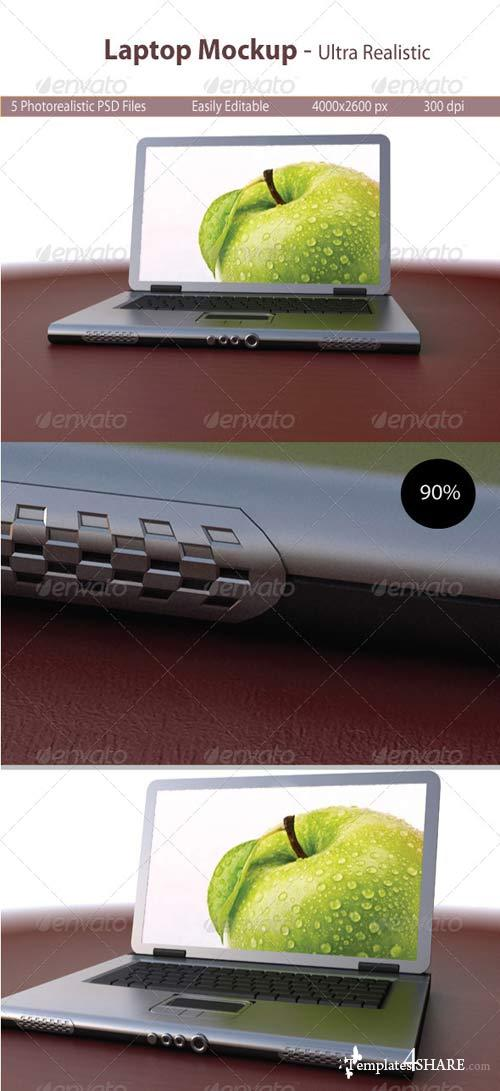 GraphicRiver Laptop Mockup Realistic