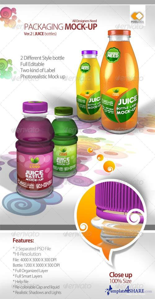 GraphicRiver Packaging Mock-up Ver. 02 (2 Bottles)