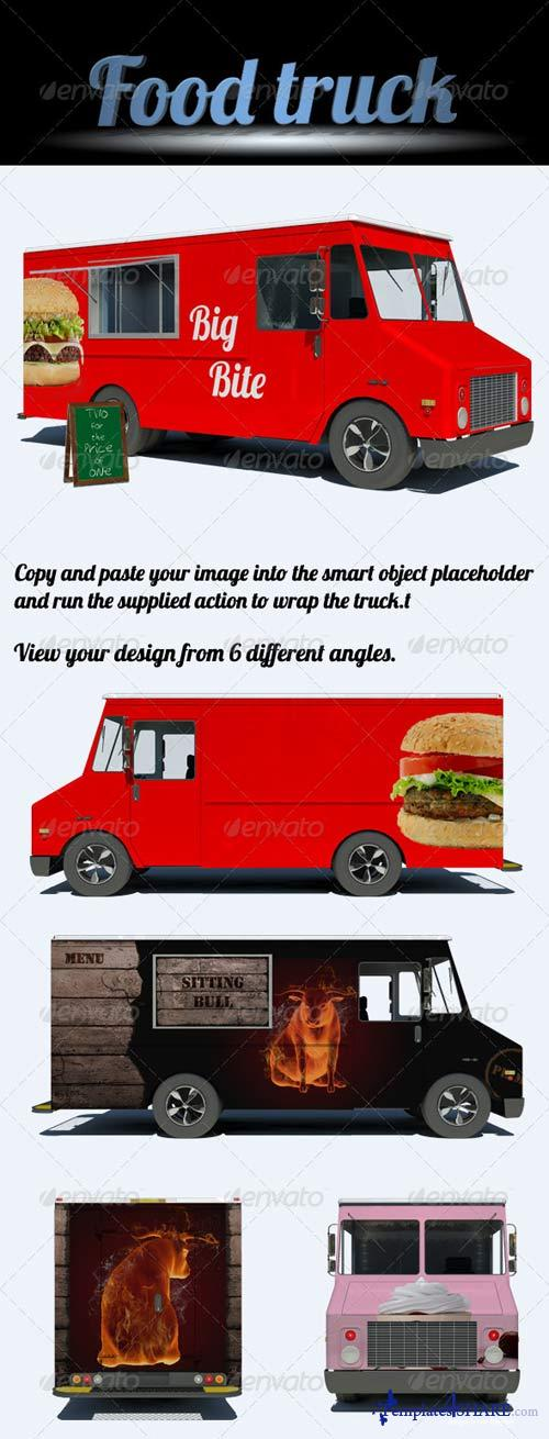 GraphicRiver Food Truck Mock-Up