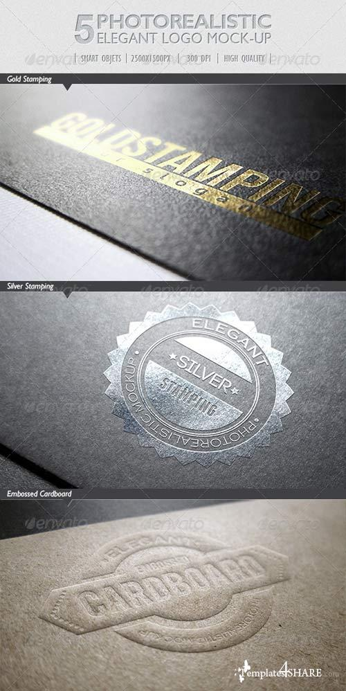GraphicRiver 5 Photorealistic Logo Mock-Up   Pack 1