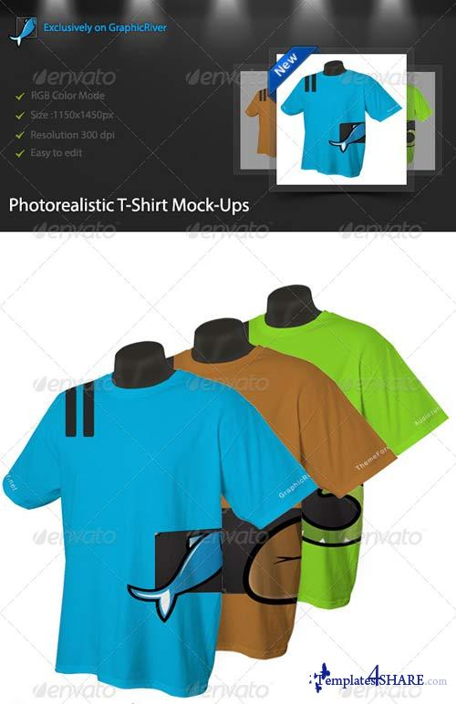 GraphicRiver Photorealistic T-Shirt Mock-Ups