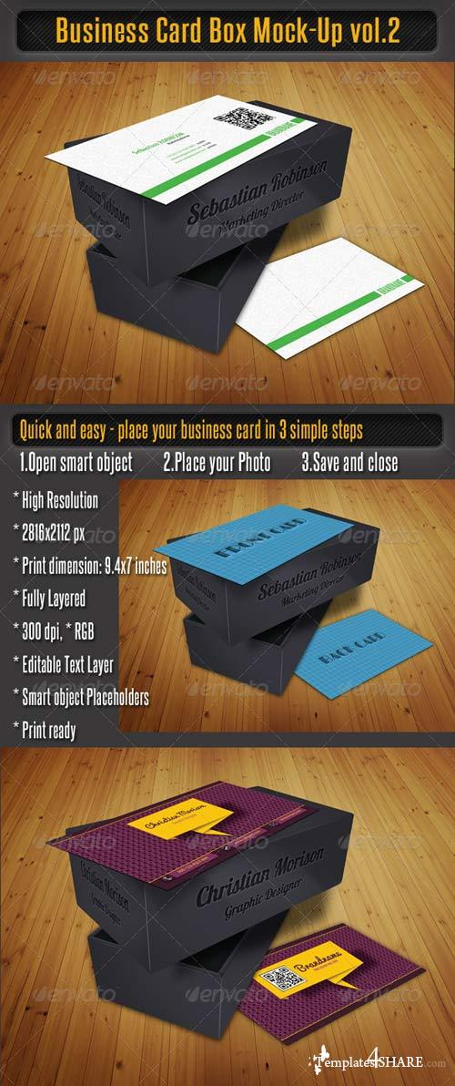 GraphicRiver Business Card Box Mock-Up Vol-2