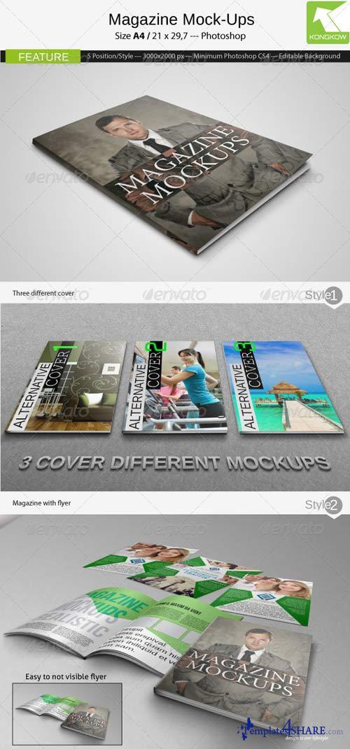 GraphicRiver Magazine Mockups 4079158