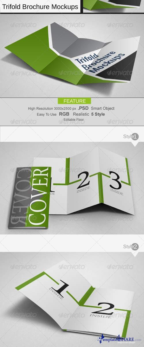 GraphicRiver Trifold Mock-Ups