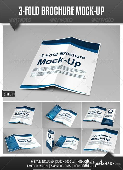 GraphicRiver Tri-Fold Brochure Mock-Up