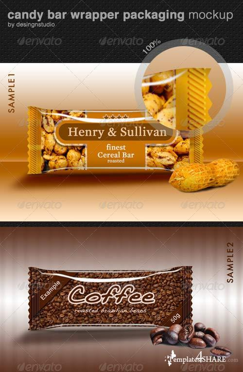 GraphicRiver Candy Bar Wrapper Packaging Mock-Up