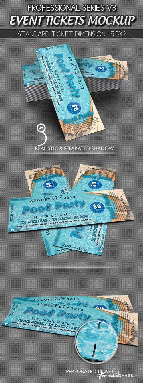 GraphicRiver Event Tickets Mockup