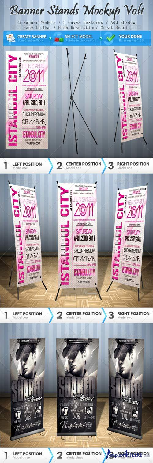 GraphicRiver Banner Stands Mock-up Volume 1
