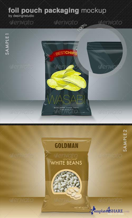 GraphicRiver Foil Pouch Packaging Mock-Up