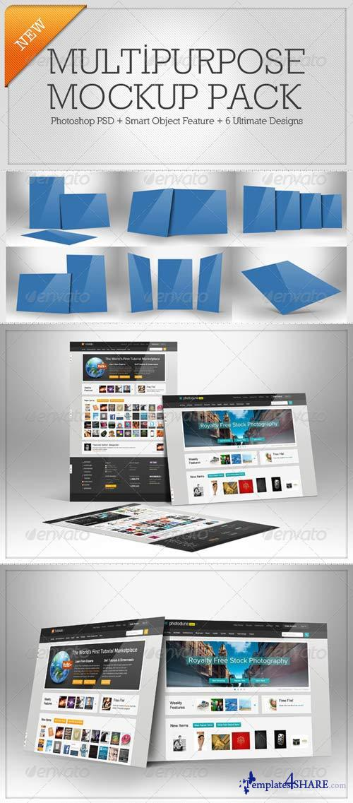 GraphicRiver Multipurpose Mockup Pack 1