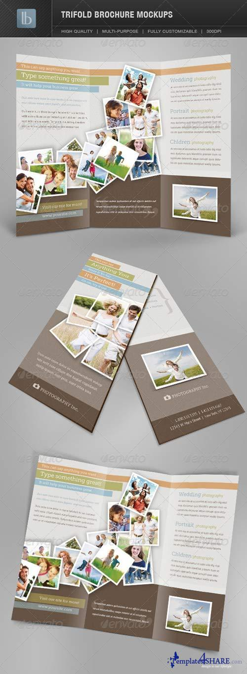 GraphicRiver Trifold Brochure Mockups | Volume 1