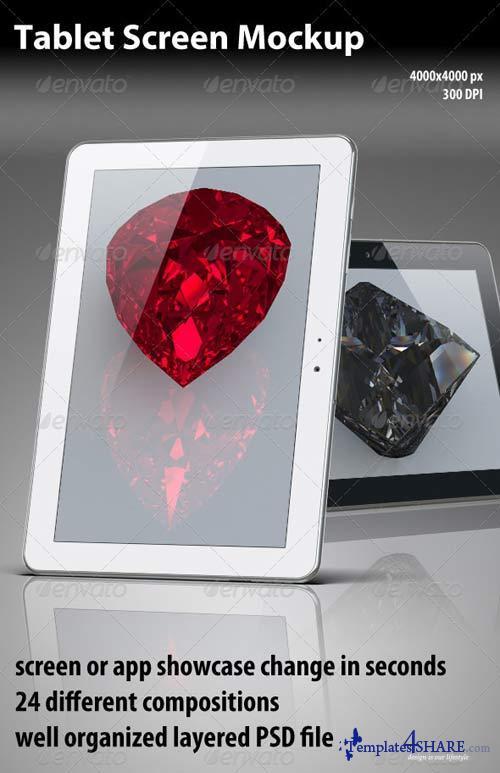 GraphicRiver Shiny Tablet Mockup