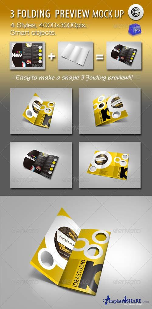 GraphicRiver Shape 3 Folding Preview Mock-ups