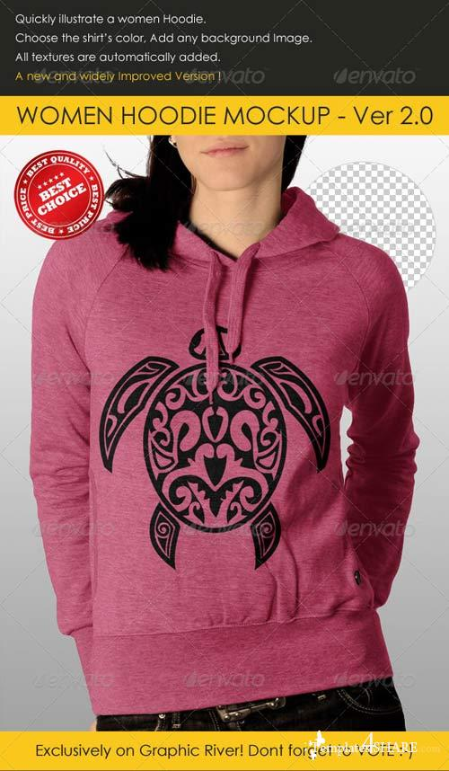 GraphicRiver Professional Women Hoodie Mock Up