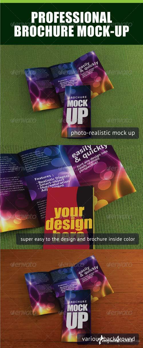 GraphicRiver Professional Trifold Brochure Mock-Up