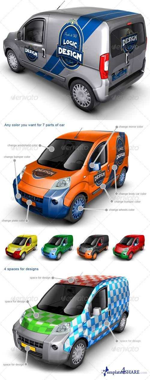 GraphicRiver Minivan Car Mock Up