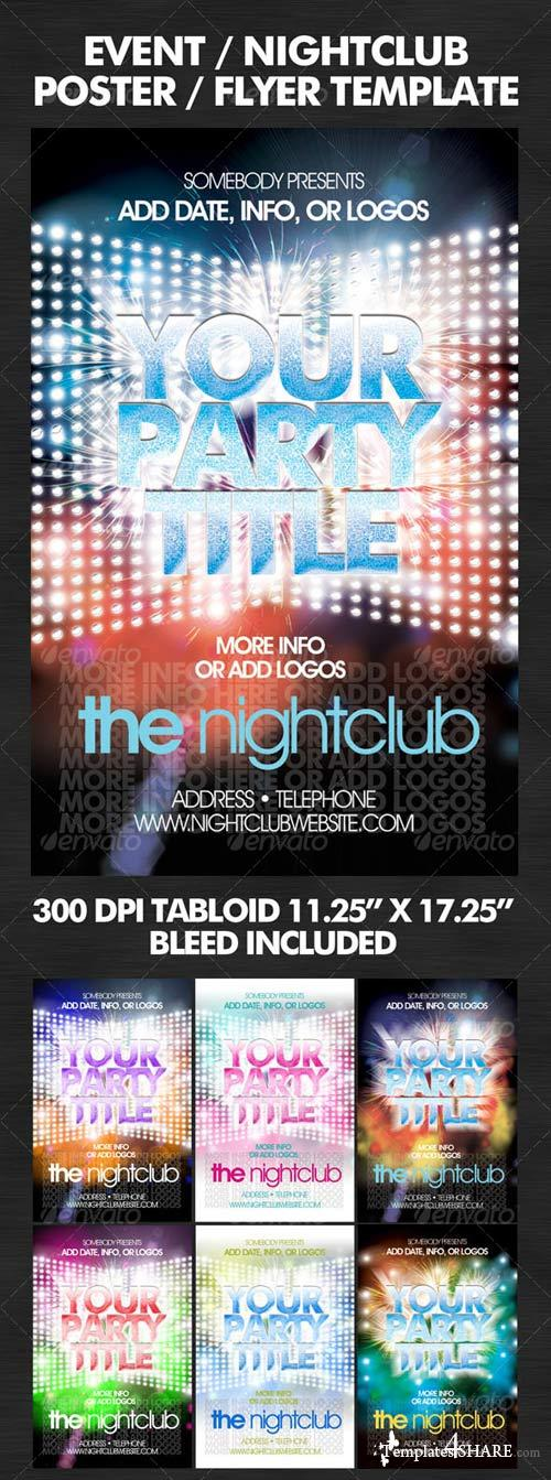 GraphicRiver Flashy Nightclub / Event Poster-Flyer