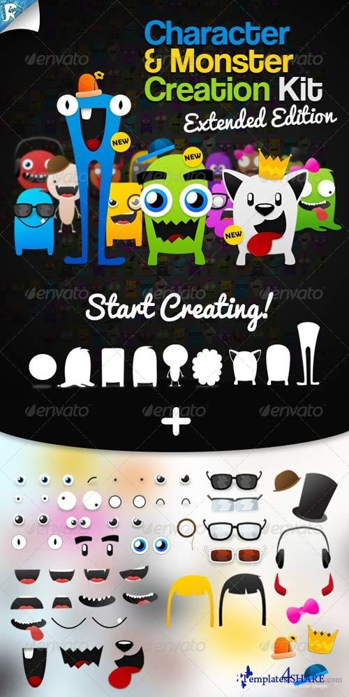GraphicRiver Character & Monster Creation Kit - Create us