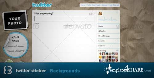GraphicRiver Sticker Twitter Background
