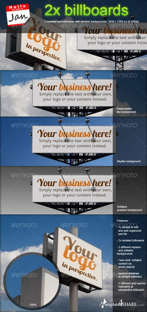 GraphicRiver Set of 2 Billboards for Product/Logo Mockup