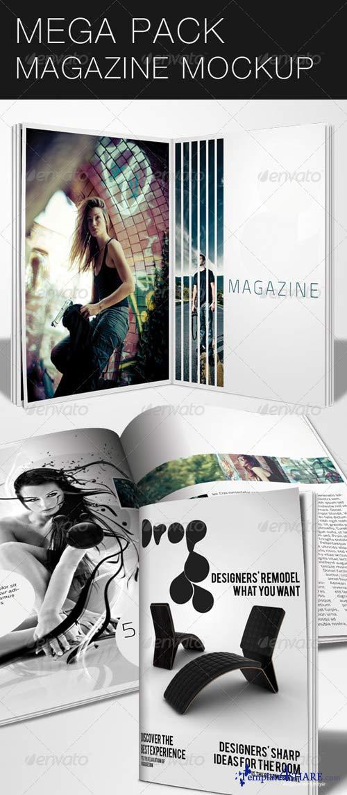 GraphicRiver Mega Pack Magazine Mock-Up