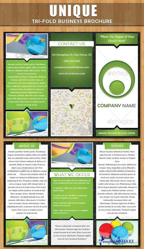 GraphicRiver Unique Tri-fold Brochure